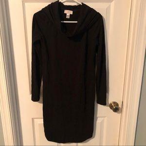 Loft cowlneck shirt dress